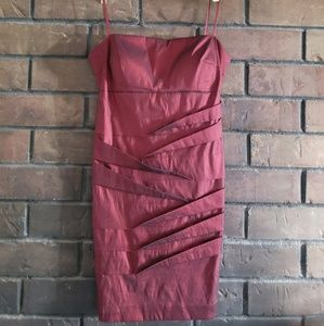Simply liliana ruby red strapless cocktail dress